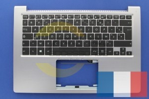 Silver Backlight French AZERTY keyboard for Zenbook
