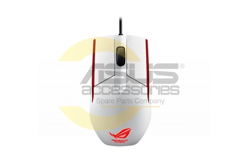 White SICA ROG gamer mouse