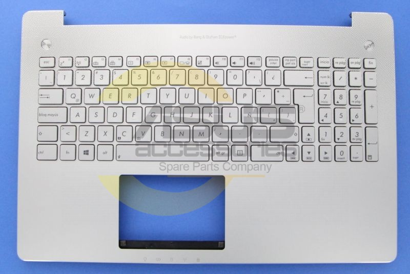 Asus Gray Latin Spanish Backlight keyboard