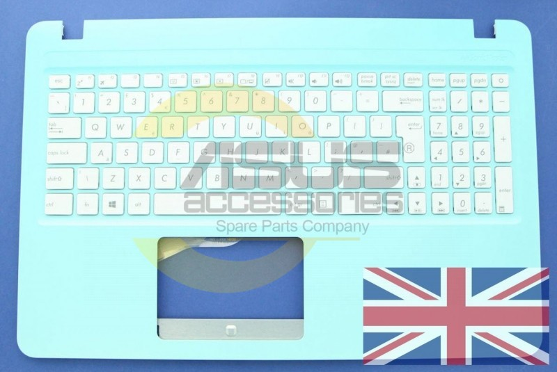 Blue UK QWERTY keyboard for Vivobook | Asus Accessories