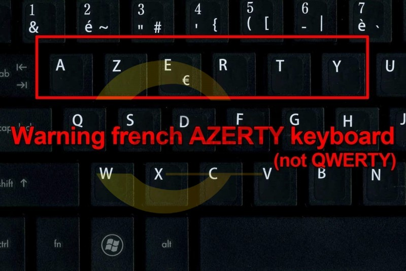 Gold French AZERTY keyboard