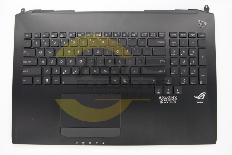 Black backlight keyboard for laptop