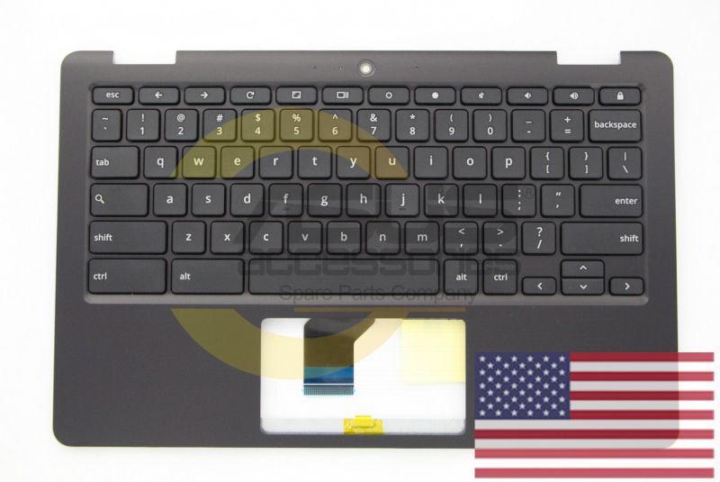 Black Keyboard for Chromebook Flip
