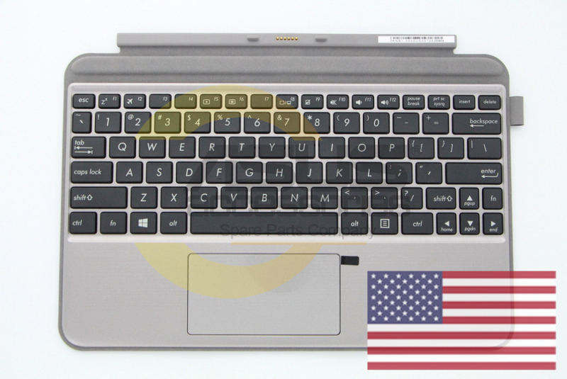 Grey Keyboard with protective stand for Transformer Mini