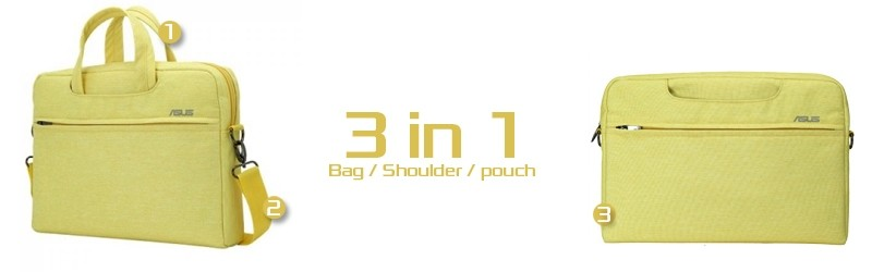3 in 1 Bag Shoulder or Pouch, color Yellow