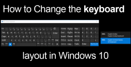 How to Change the keyboard layout in Windows 10